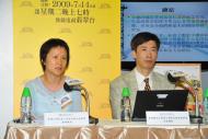 (左起) 樓瑋群博士、張兆球博士於會上發言