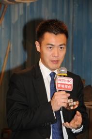 關愛基金督導委員會成員劉鳴煒跟其他嘉賓一起欣賞《窮富翁大作戰II》精華片段